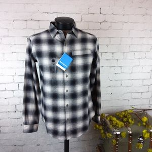 NWT Columbia men's flannel plaid shirt size Small